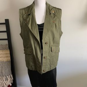 Forever 21 Army Green Utility Vest
